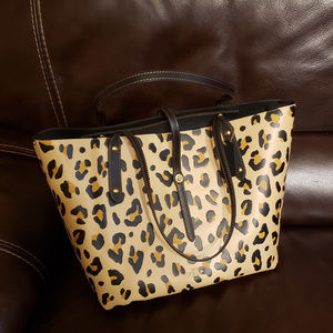 NWT Coach Animal Print Leather Market Tote